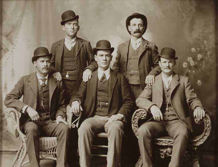 The Wild Bunch, Seated, left to right: Harry Longabaugh (