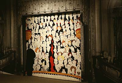 Ralph Barton's caricature curtain