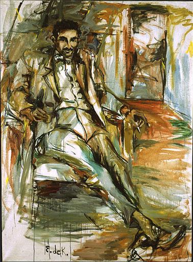 "Elaine de Kooning, ""Harold Rosenberg"", óleo, 1953"