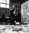 Pollock painting (3 of 5 photographs)