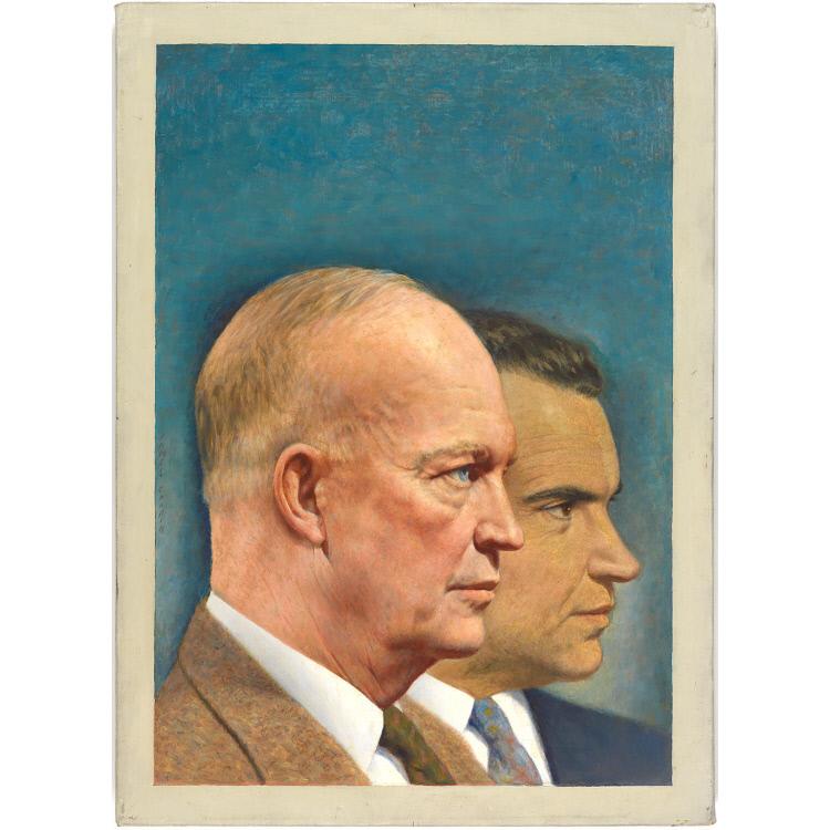 Richard Nixon and Dwight D. Eisenhower