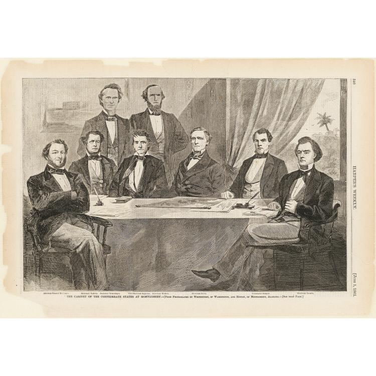 The Cabinet of the Confederate States at Montgomery