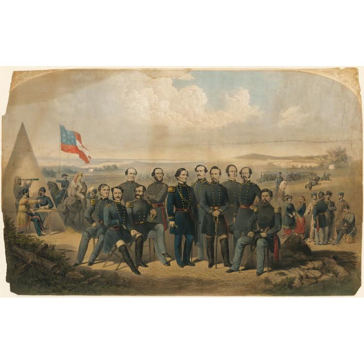 Jefferson Davis and Generals