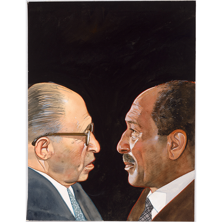 Menachem Begin and Anwar Sadat