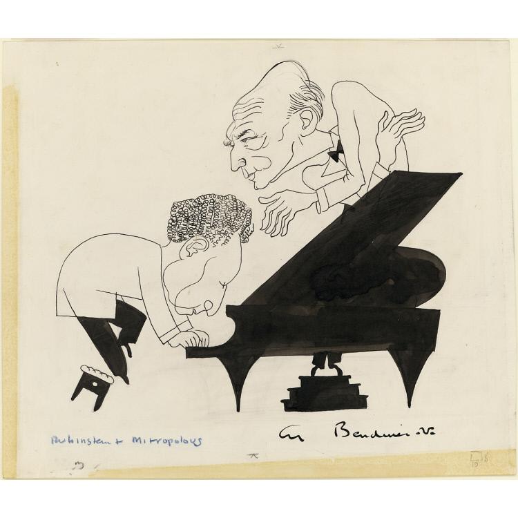 Arthur Rubinstein and Dimitri Mitropoulos