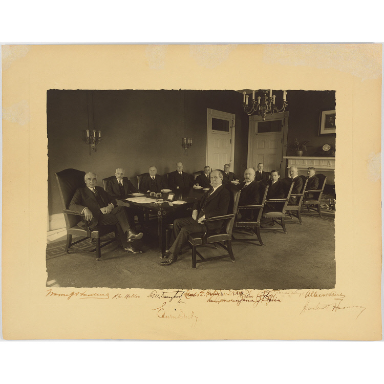Warren Harding and his Cabinet