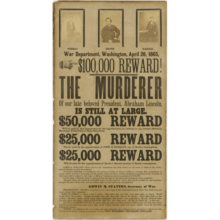 John H. Surratt, John Wilkes Booth, and David E. Herold