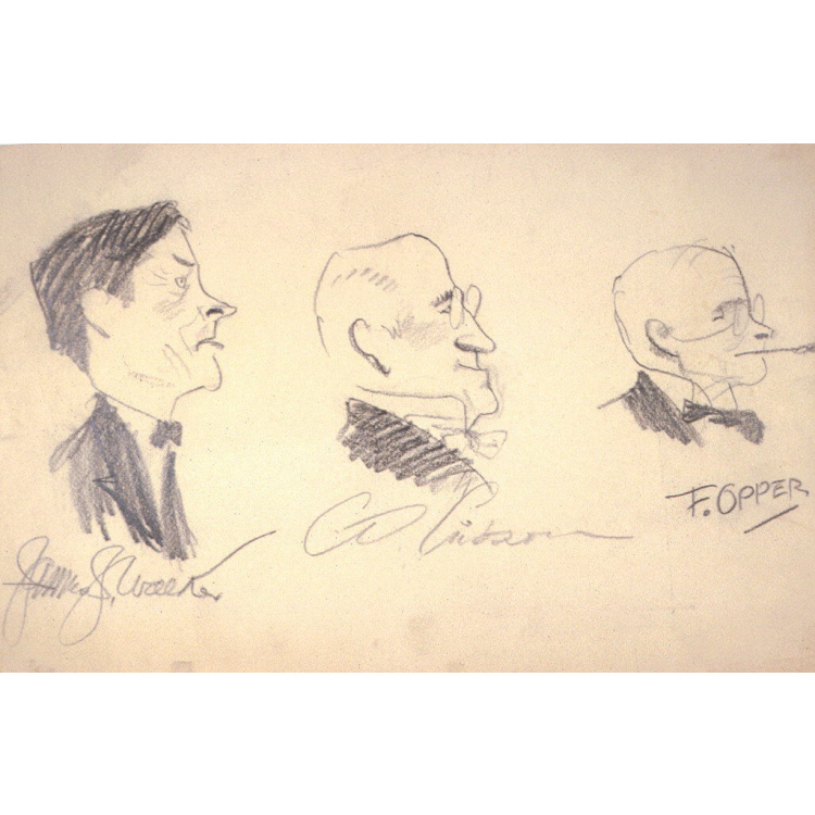 Jimmy Walker, Charles Dana Gibson and Frederick Opper