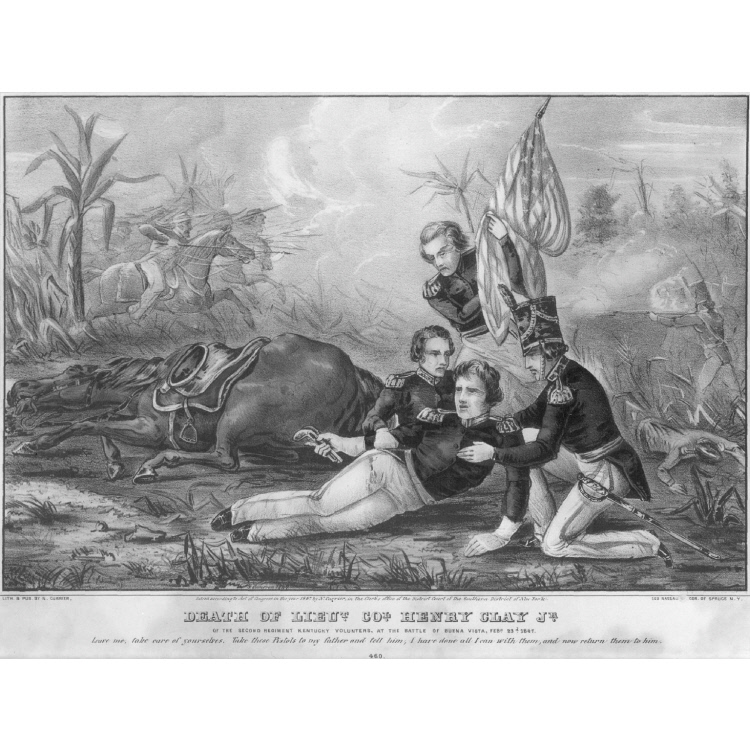 Death of Lieutenant Henry Clay Jr.