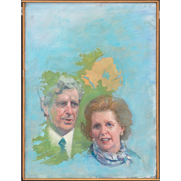 Margaret Thatcher and Garret Fitzgerald