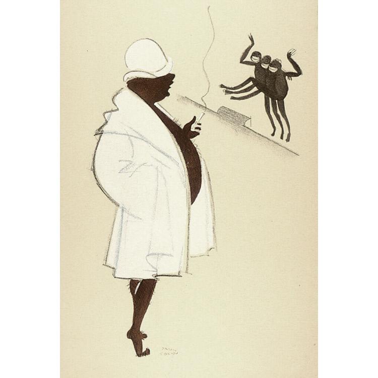 Le Tumulte Noir/Man in Bathrobe
