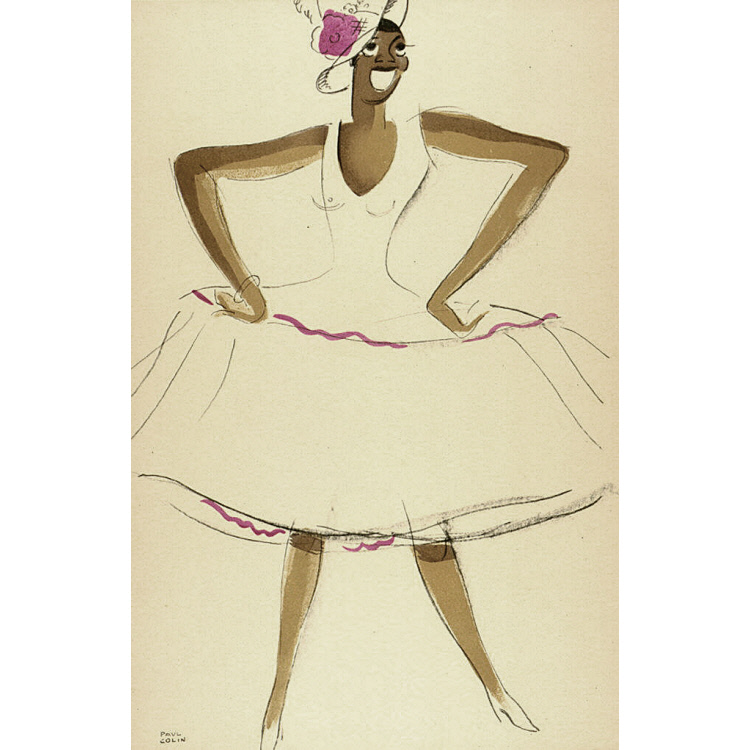 Le Tumulte Noir/Woman in White and Magenta