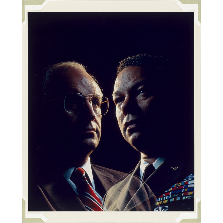Richard Cheney and Colin Powell