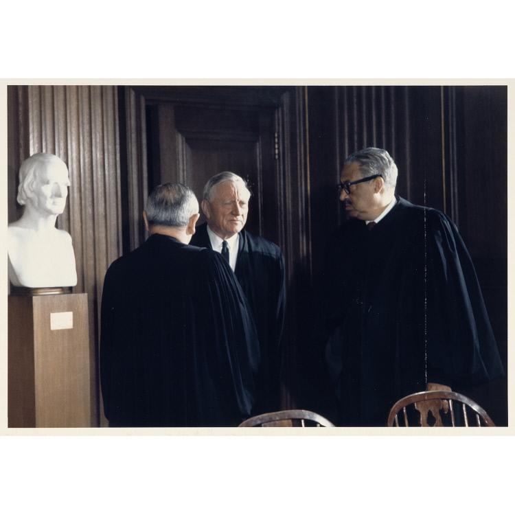 William Brennan, William Douglas and Thurgood Marshall