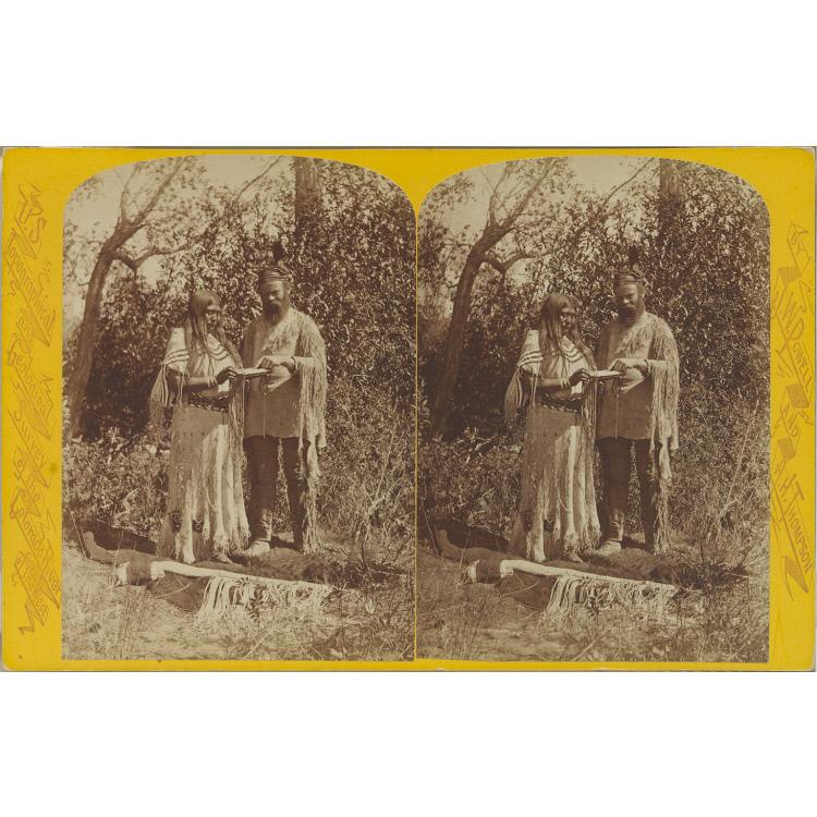 John Wesley Powell with Tau-ruv, a Ute woman