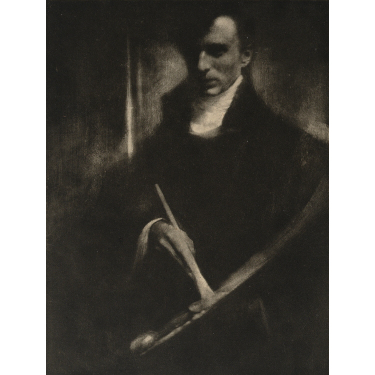 Self-Portrait with Brush and Palette