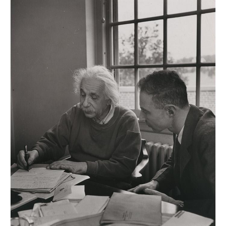 J Robert Oppenheimer And Albert Einstein National