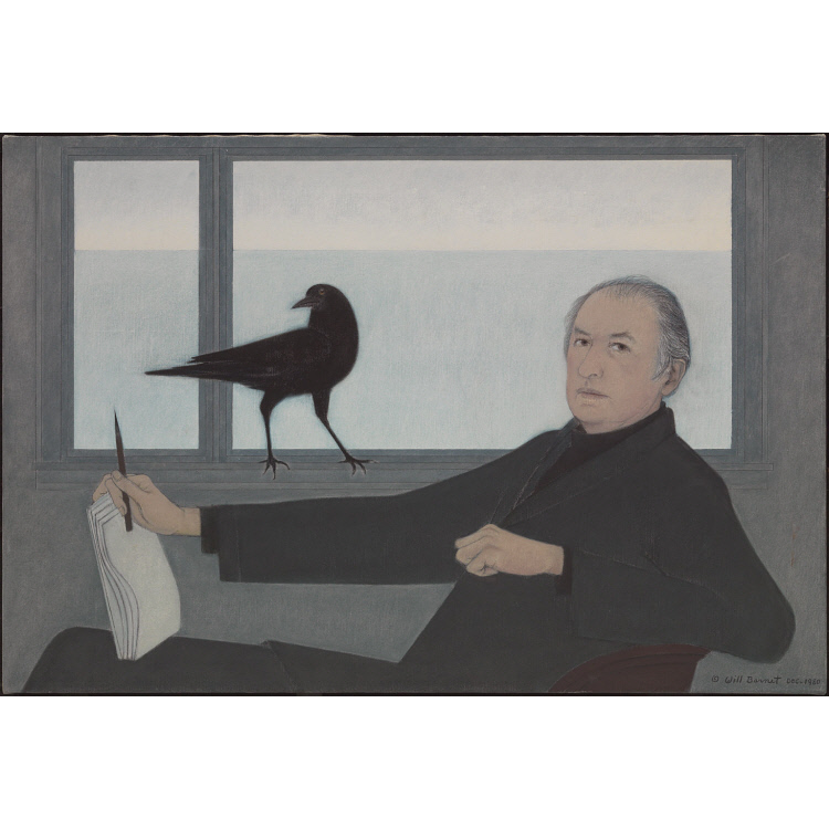 Self-portrait with Crow