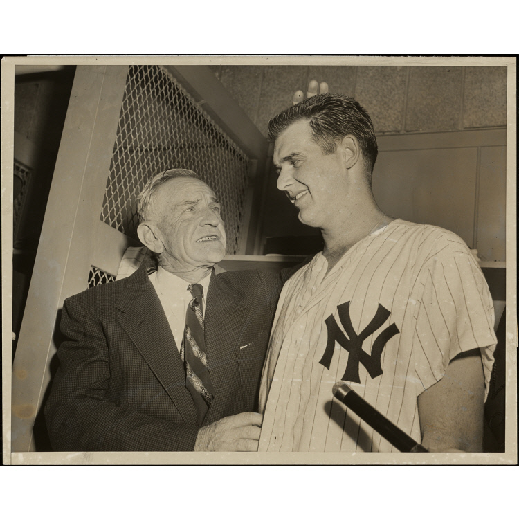 Don Larsen and Casey Stengel