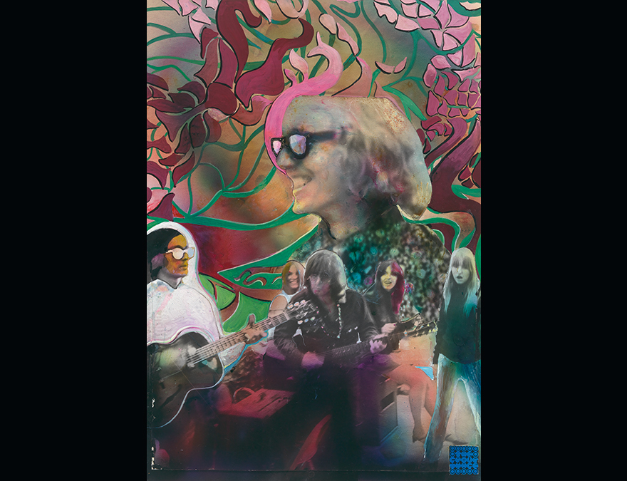 collage poster of several hippies
