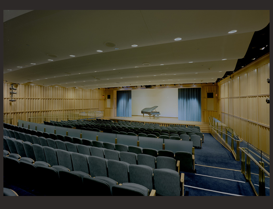 View of an empty auditorium