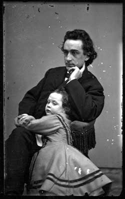 Photo of Edwin Booth and toddler daughter