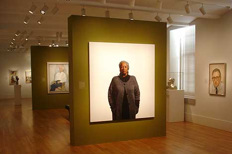 Toni Morrison portrait on display in the museum's galleries