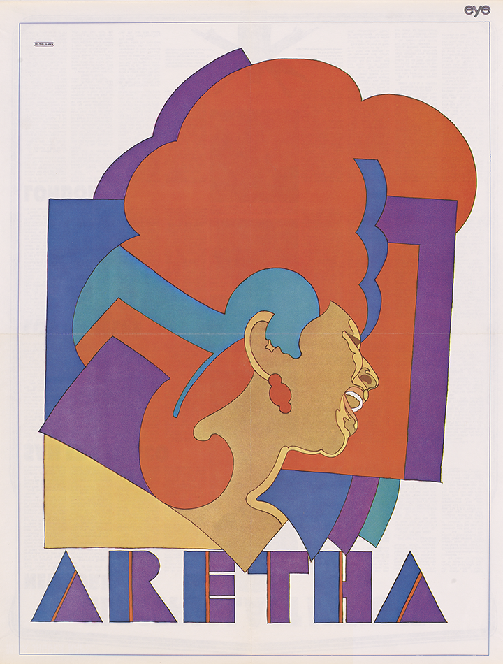 Credit_Aretha Franklin by Milton Glaser, color photolithographic poster, 1968. National Portrait Gallery, Smithsonian Institution ©Milton Glaser
