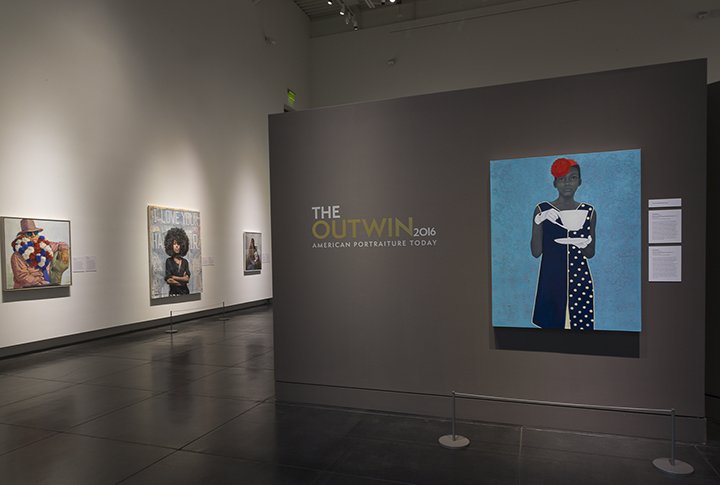 INstallation of Outwin Boochever Portrait Competition