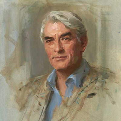 """Gregory Peck"" by Everett Raymond Kinstler"