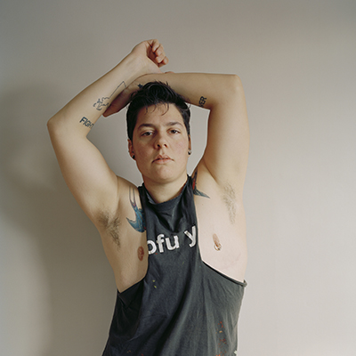Self-portrait (muscle shirt) by Jess T Dugan