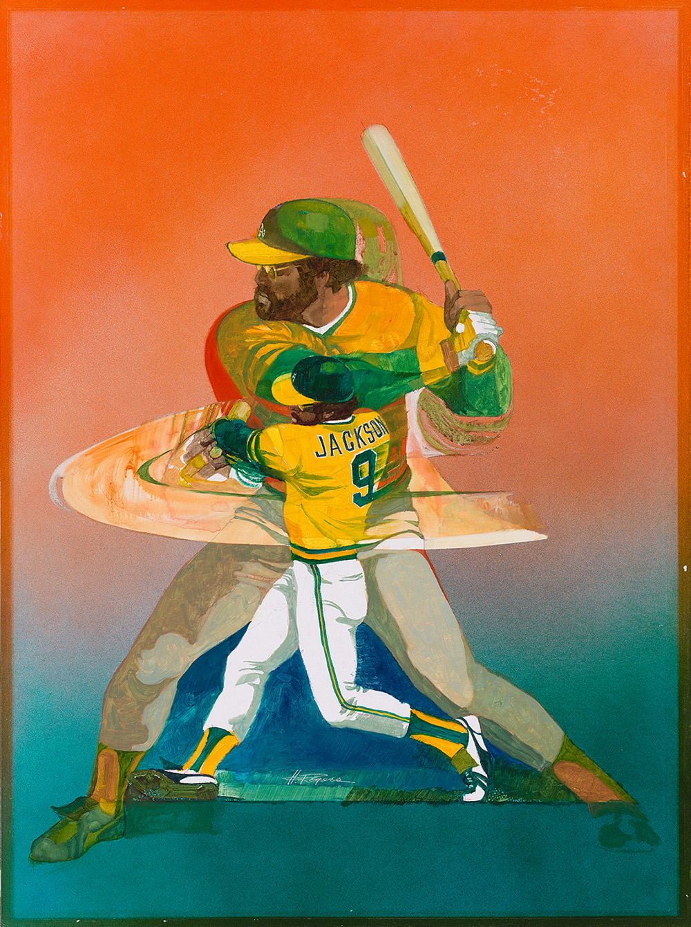 image of a baseball player swinging a bat