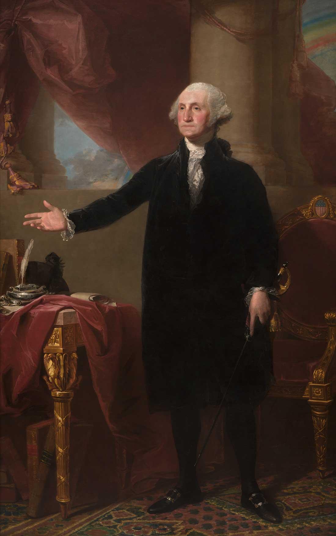 president on horseback painting