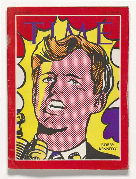 Lithograph of Robert F. Kennedy on Time magazine