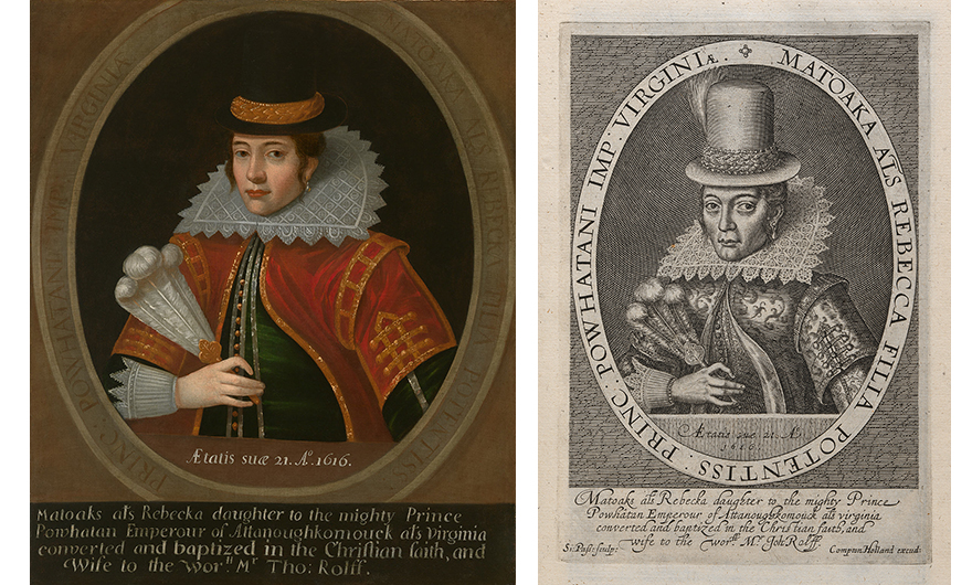 two portraits of the same woman in 17th century dress