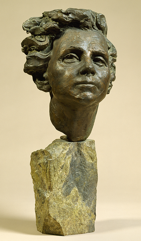 sculpture of a head of a woman