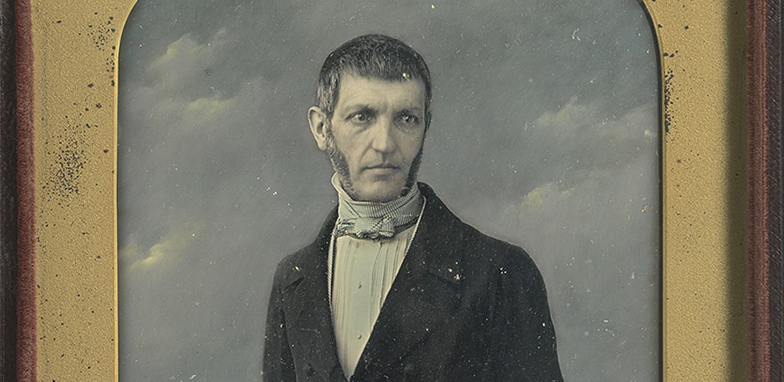 George Bancroft by John Jabez Edwin Mayall / Half-plate daguerreotype (hand-colored), c. 1847 / National Portrait Gallery, Smithsonian Institution; partial gift of Dr. and Mrs. Lester Tuchman and Gallery purchase