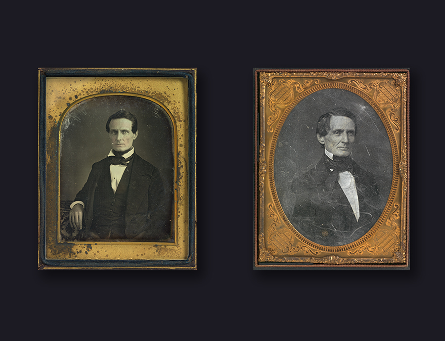 Two daguerreotype portraits of Jefferson Davis