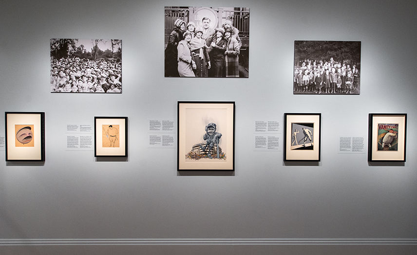 "Installation view of ""One Life: Babe Ruth."""