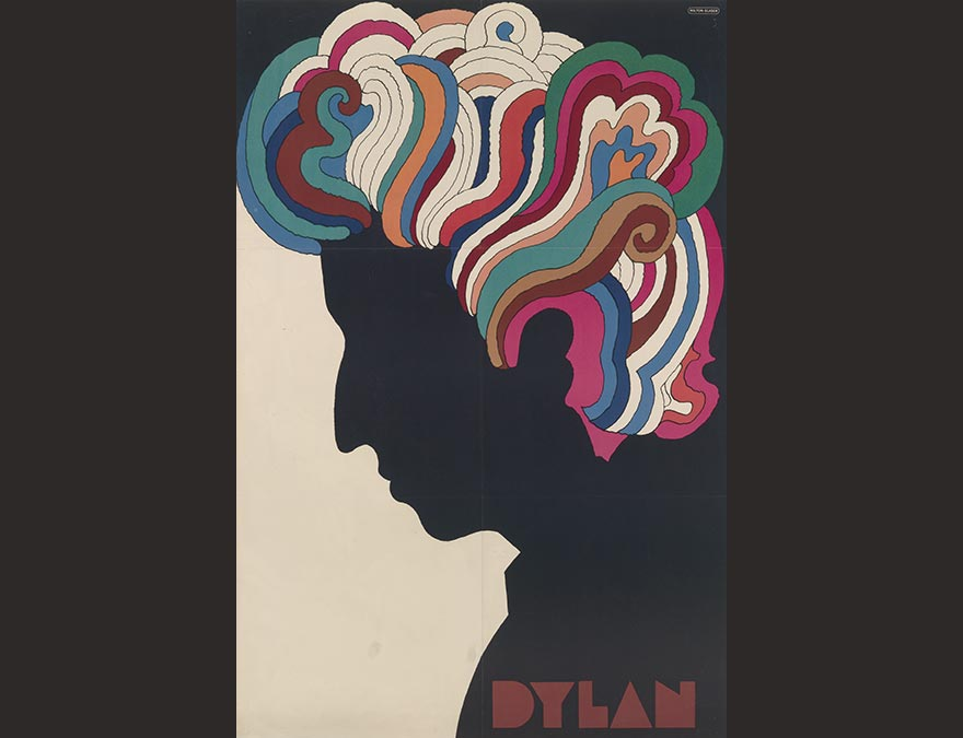 Colorful poster of a silhouetted man with colorful hair