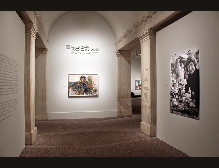 Elaine de Kooning installation