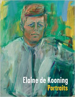 "Book cover for ""Elaine de Kooning: Portraits"" book"
