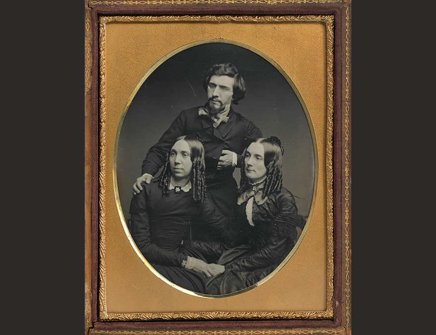 Photograph of Mathew Brady, Juliet Brady and Mrs. Haggerty