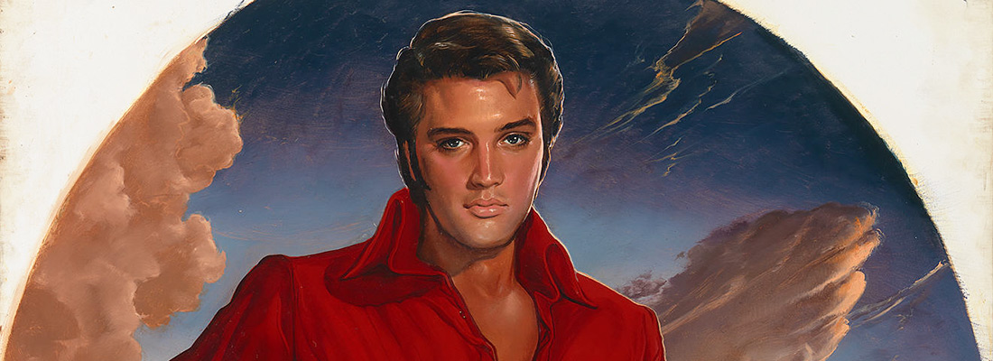 Elvis Presley  Ralph Wolfe Cowan (born 1931)  Oil on canvas, 1976–88