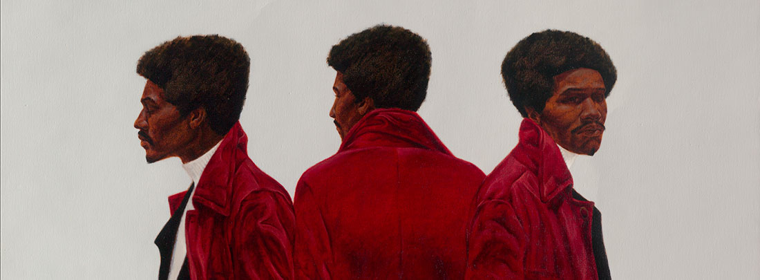 Sir Charles, alias Willie Harris / por Barkley Hendricks (nacido en 1945) / Óleo en lienzo, 1972 / Galería Nacional de Arte, Washington, D.C.; Fundación William C. Whitney
