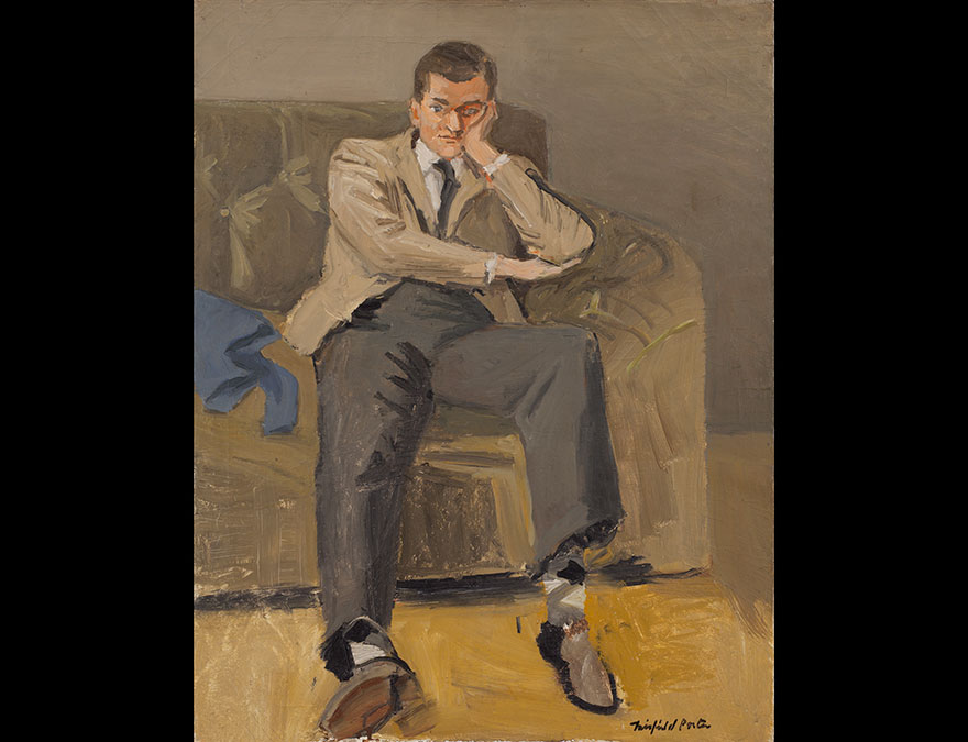 John Ashbery (Argyle Socks) / By Fairfield Porter (1907–1975) / Oil on canvas, 1952 / Collection The Flow Chart Foundation. Courtesy Tibor de Nagy Gallery, New York