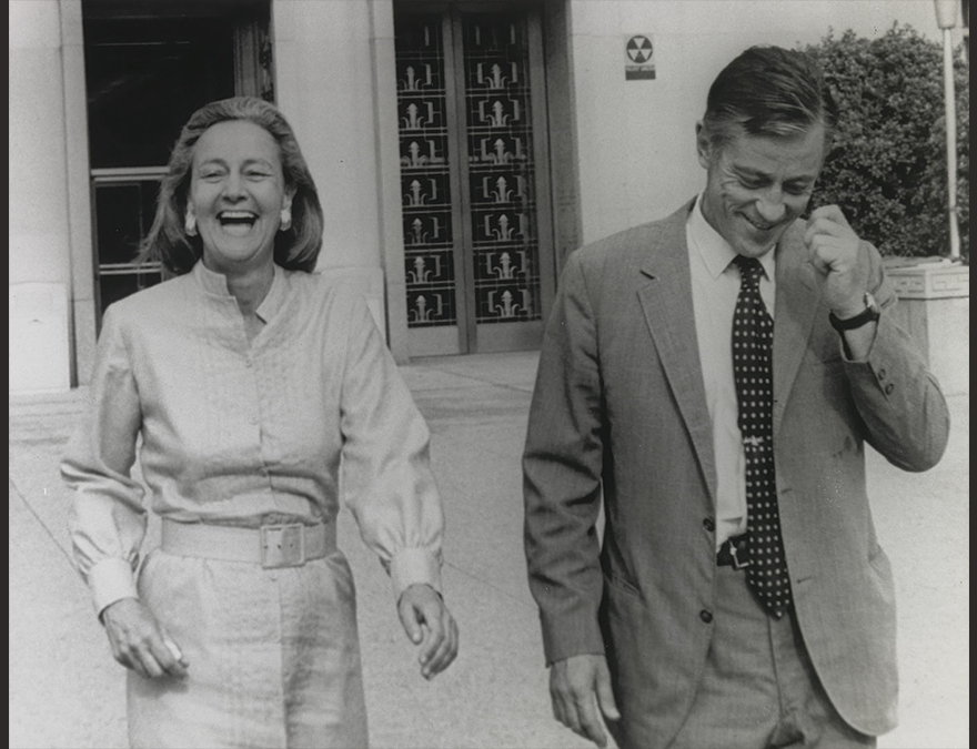 Katharine Graham and Washington Post Executive Editor Ben Bradlee