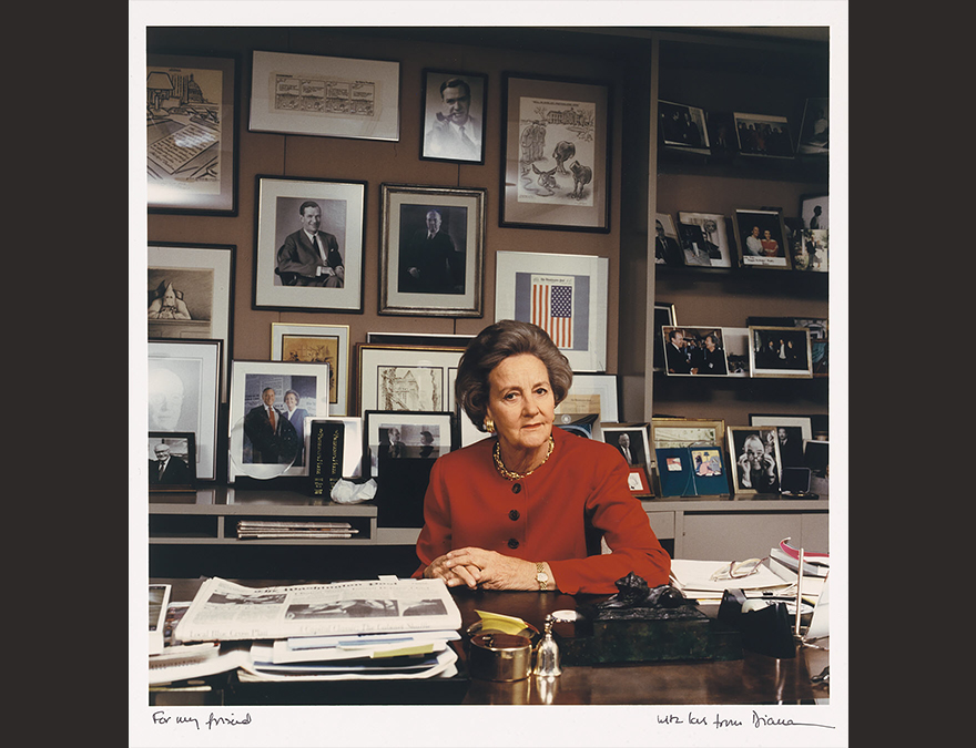 Katharine Graham at Her Washington Post Desk
