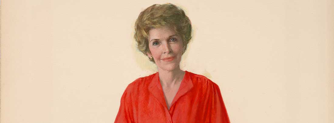 Portrait of Nancy Reagan