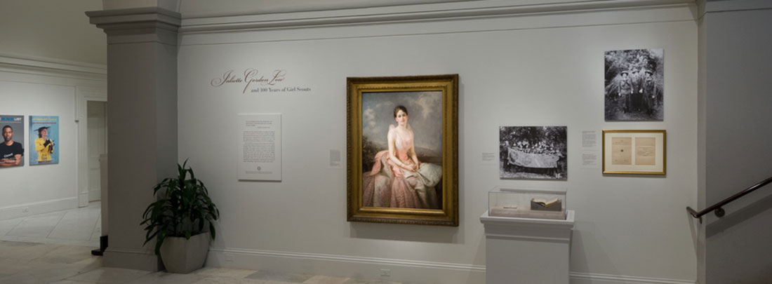 View of Juliette Gordon Low portrait in gallery
